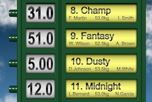 Horse Racing Odds Board