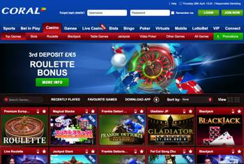 coral casino online