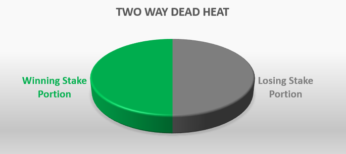 Two Way Dead Heat Portioning Pie Chart
