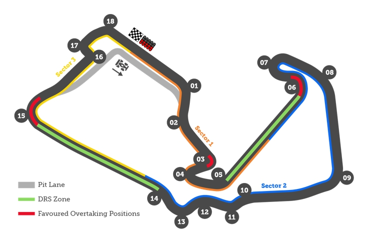 F1 British Grand Prix Silverstone Circuit Track Map