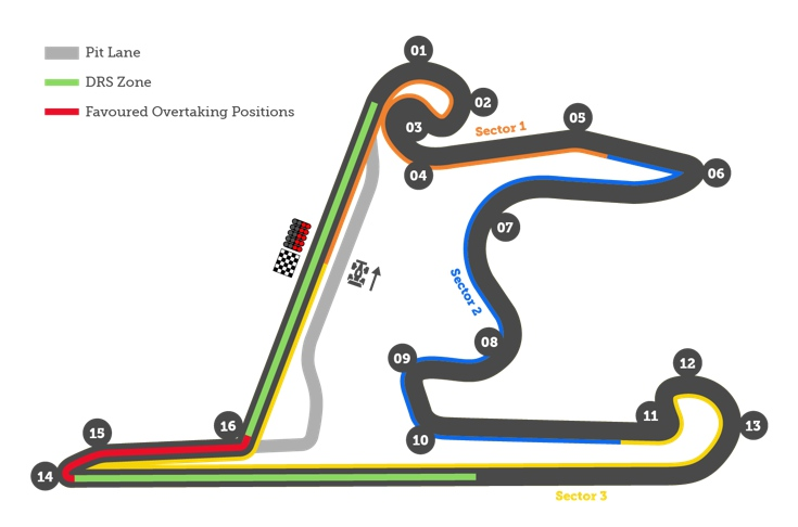F1 China Shanghai International Circuit Track Map