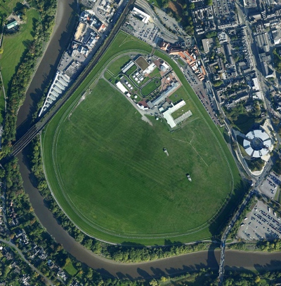 Aerial View of Chester Racecourse