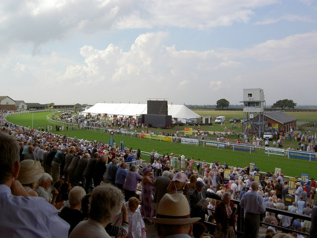 In the Stands at Beverley Racecourse