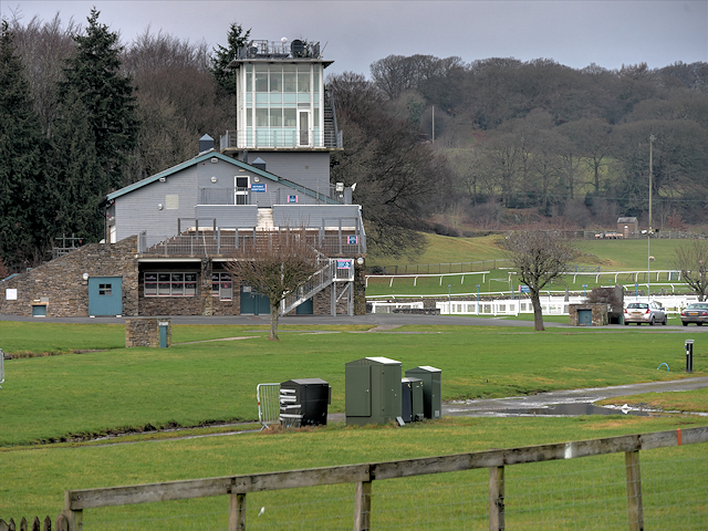 The stands at Cartmel Racecourse