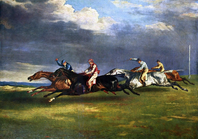 Painting of the Epsom Derby