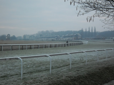 Frost at Pontefract Racecourse