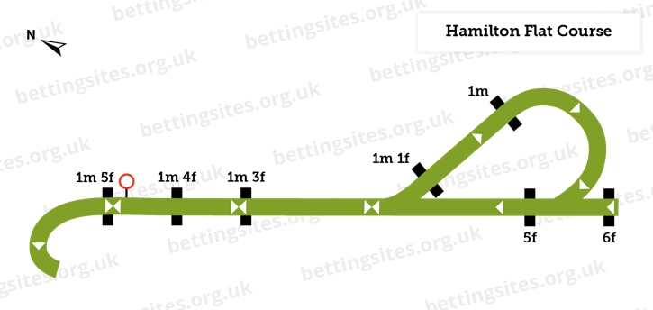 Hamilton Racecourse Flat Course Diagram