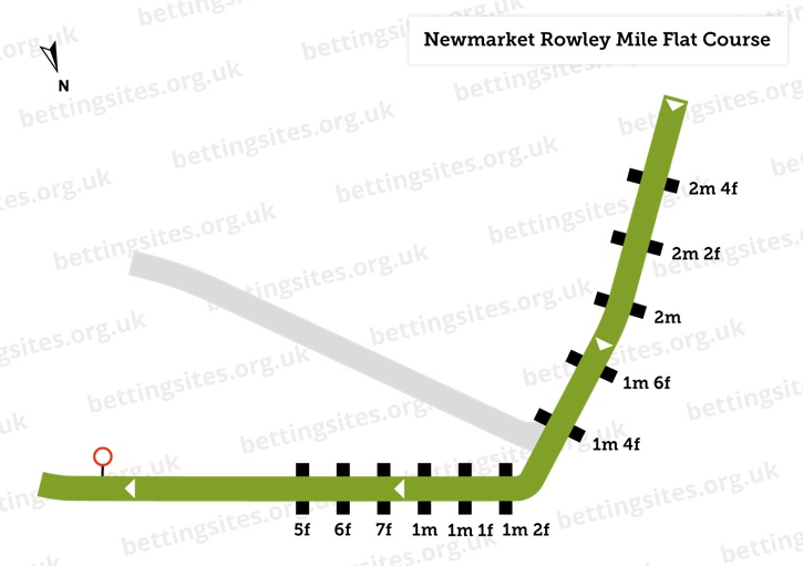 Newmarket Rowley Mile Flat Course Diagram