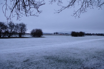 Thirsk Racecourse Covered in Snow