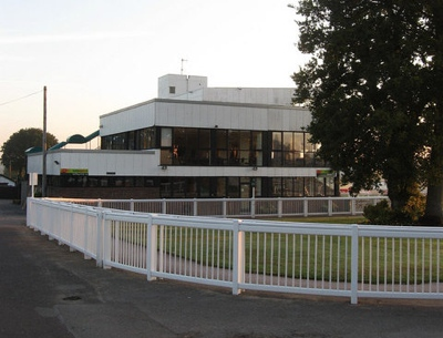 Grandstand at Plumpton Racecourse