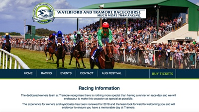 Waterford & Tramore Racecourse Website