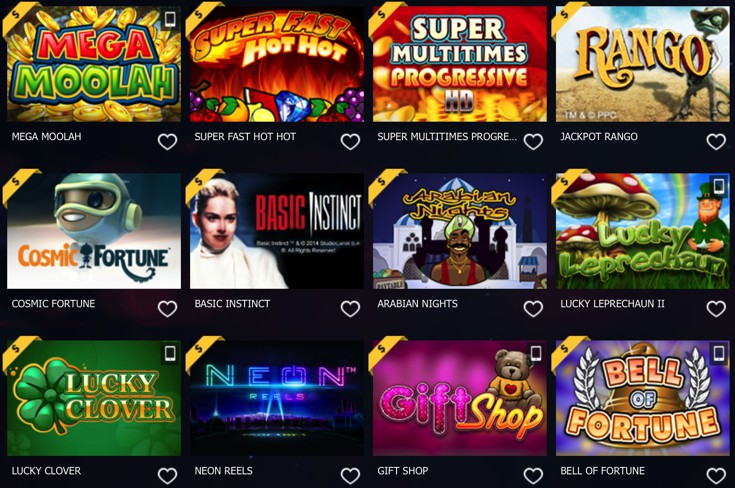 10Bet Casino Games Screenshot