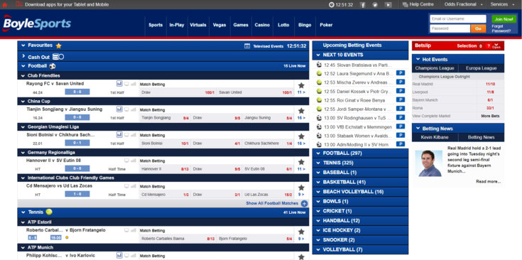 BoyleSports Features Screenshot