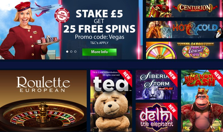 Betfred Casino Games Screenshot