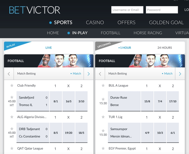 BetVictor Features Screenshot