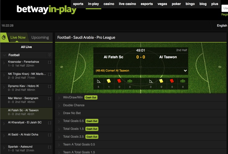 Betway Features Screenshot