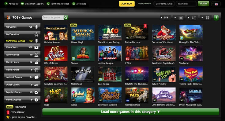 Casino Luck Games Screenshot