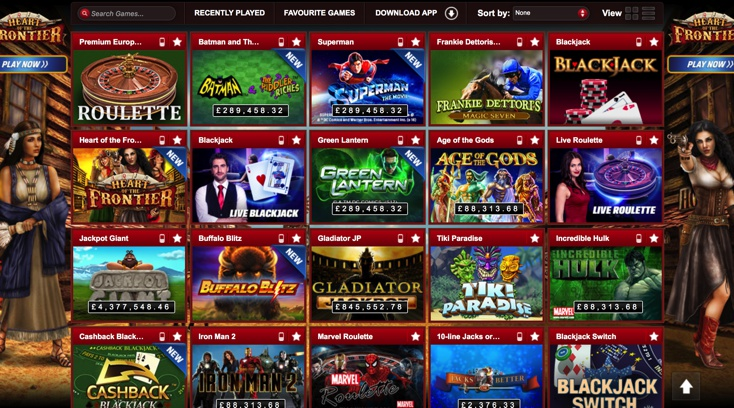Coral Casino Games Screenshot