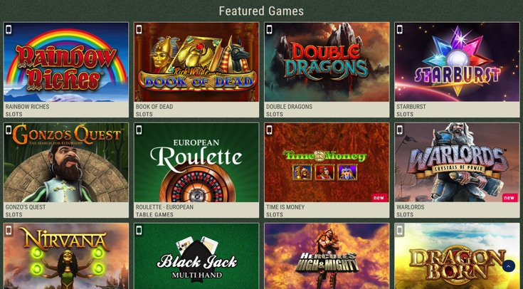 Mr Smith Casino Games Screenshot
