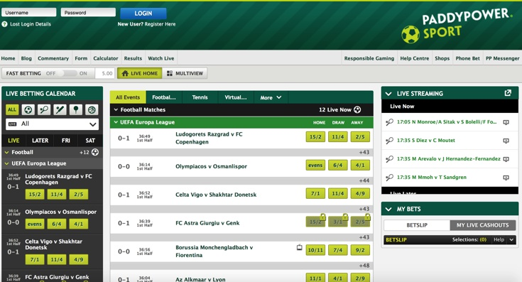 Paddy Power Features Screenshot