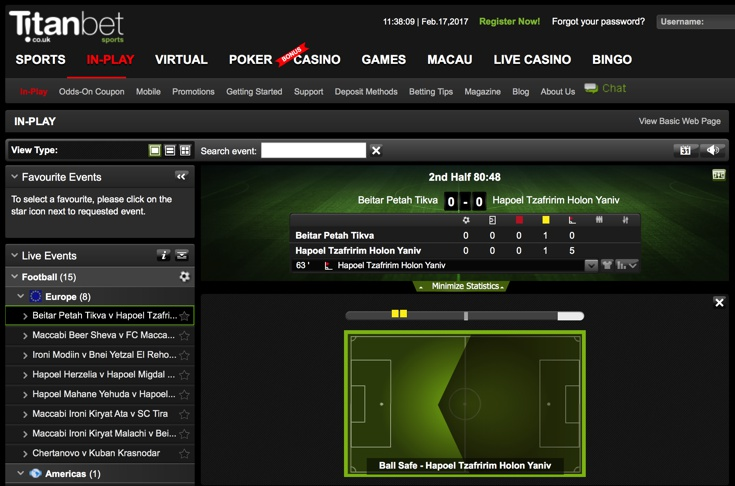 Titanbet Features Screenshot